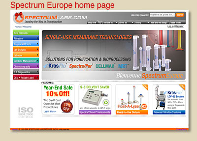Spectrum Europe home page